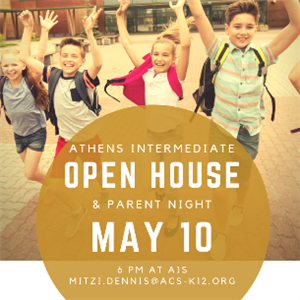 Open House & Parent Night May 10