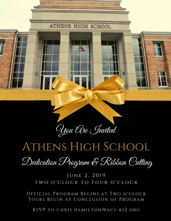 AHS Dedication Invitation