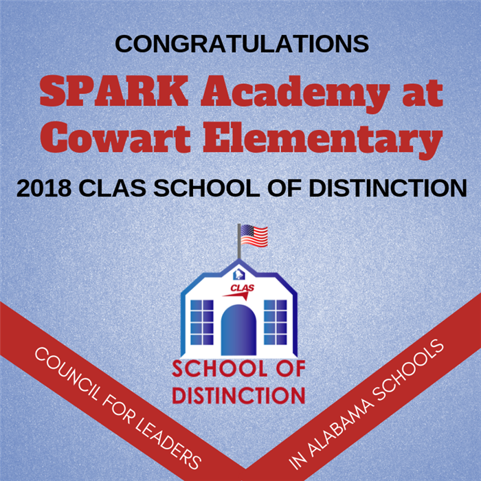 SPARK Academy at Cowart Elementary selected as CLAS School of Distinction
