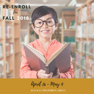 Student Re-enrollment is Now Open April 16-May 4